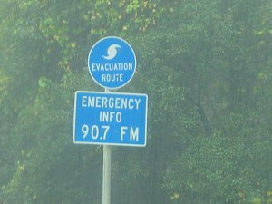 [hurricane evacuation route]