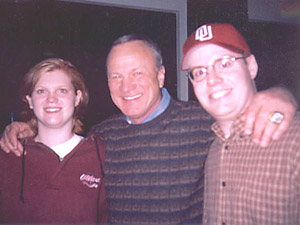 [Robyn and Todd with Barry Switzer]