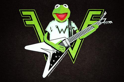 [Kermit the Weezer fan]